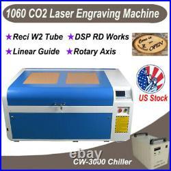 100W CO2 Laser Engraving Machine 1000600mm DSP Laser Cutter Engraver Reci Tube
