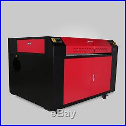 100W CO2 Laser Engraving Machine Rotary A-AXIS Auxiliary 900x600MM 230mm Track