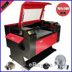 100W CO2 USB Laser Cutter Engraver Engraving Machine With Water Pump & Air Pump