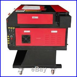 100W CO2 USB Laser Engraver Cutter Engraving Machine Red Dot Point + Rotary Axis