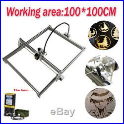 100x100CM Laser Engraver Kit Router Engraving Machine &15W Laser Module US Stock