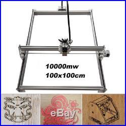 10W 100x100 CNC DIY Laser Engraving Marking Machine Metal Wood Cutter Engraver