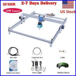10W CNC 2Axis Laser Engraver Metal Marking Machine Wood Cutter 50x60cm DIY Kit