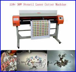 110V 54 Laser Stencil Cutting Cutter Plotter Cloth CO2 Laser Machine 50W Art