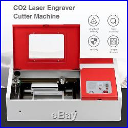 12''X8'' CO2 Laser Engraving Cutting Machine Commercial Engraver Cutter 40W USB
