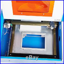 12x 8 40W CO2 Laser Engraving Machine Engraver Cutter w Exhaust Fan USB Port