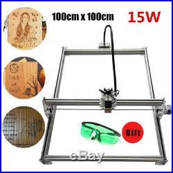 15000MW Laser Engraver Full Metal Marking Machine Wood Cutter DIY Kit 100x100cm