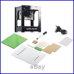 1500mW Laser Engraver Engraving Machine Stainless Steel DIY Cutting Printer US