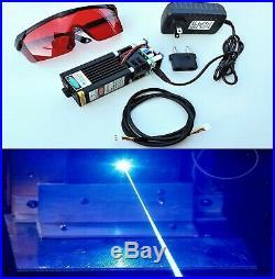 15W Blue Laser Module Head Diode 450nm For CNC Engraving Cutter Machine Full Kit