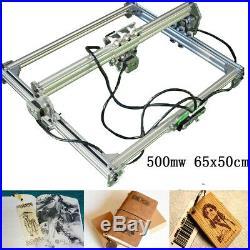 2 Axis 500MW 65x50cm DIY Laser Engraving CNC Carver Engraver Cutting Machine US