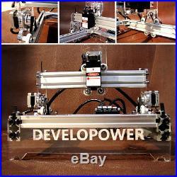 2000MW 17x20cm 12V Laser Engraving Mini Engraver Cutter Desktop Printer Machine