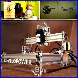 2000mW Desktop Laser Engraving Machine Logo Marking Printer Engraver Cutting