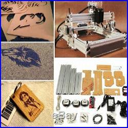 2000mW Desktop Laser Engraving Machine Logo Marking Printer Engraver Cutting NEW