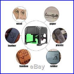 2000mW Logo Marking Engraver Desktop Laser Engraving Machine Range 8080mm DIY