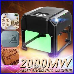 2000mW USB Desktop Laser Engraving Cutting Machine DIY Logo Printer CNC Engraver