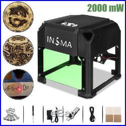 2000mW USB Laser Engraver Printer Carver DIY Engraving Cutting Machine + Gift