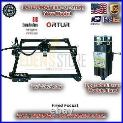 2021 Ortur Laser Master 2 Engraving Cutting Machine Laser Head USA 20W Kit