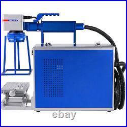 20W Hand-held Fiber Laser Marking Machine 110x110mm Portable Metal Engaver USA