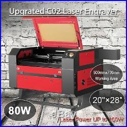 20x28 80W Co2 Laser Engraver Cutter Engraving Cutting machine Ruida DSP Red Dot