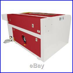 220V 60W CO2 Laser Engraver Cutter Wood Cutting Engraving Machine 600x400mm USB
