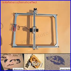 2500mW 4050cm Area Mini Laser Engraving Cutting Machine Desktop Printer Kit US