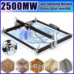 2500mw 65x50cm Laser Engraving Cutting Engraver CNC Carver DIY Printer Machine