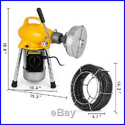 3/4-5 Drain Cleaner 500 W Sectional Sewer Snake Drain Auger Cleaning Machine