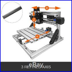 3 Axis CNC Router Kit 2418 500MW TTL T8 Screw Machine With Laser Engraver DIY