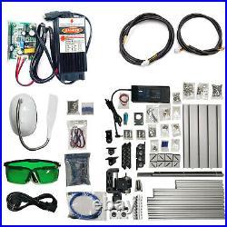 3 Axis CNC Router Kit 24X18CM DIY Laser Engraver + 5500MW Laser Moudle PCB USA