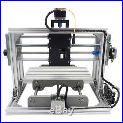 3 Axis DIY CNC Router Kit Wood & Metal Engraving Milling Machine + 2500mw Laser