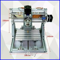 3 Axis DIY CNC Router Machine 500mW Laser Engraving PCB Milling Wood Carving US