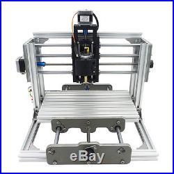 3 Axis Mini CNC Milling Machine Engraving DIY Router Kit + 2500mw Laser Engraver