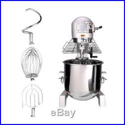 3 Speed Commercial Dough Food Mixer 1100W 30 Quart Stainless Steel Pizza Bakery