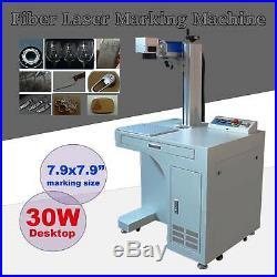 30 Watt Desktop Fiber Laser Marking Machine Deep Laser Metal Engraving 200x200mm