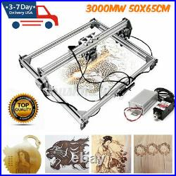3000MW 65x50cm Laser Engraving Machine Kit Cutting Engraver Desktop With Goggles