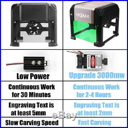 3000MW Laser Engraver Printer CNC Machine Cutter Carver USB Tool Kit DIY AU