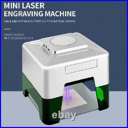 3000MW Mini Laser Engraving Carver Machine bluetooth Engraver DIY Logo Printer