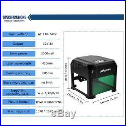 3000MW USB Laser Engraving Cutting Machine DIY Logo Printer CNC Engraver Desktop