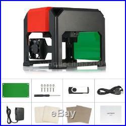 3000MW USB Laser Engraving Cutting Machine DIY Logo Printer Engraver Desktop FDA