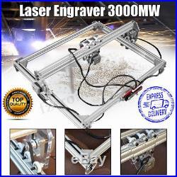 3000mW 50x65cm Area Mini Laser Engraving Cutting Machine Printer Kit Desktop DIY