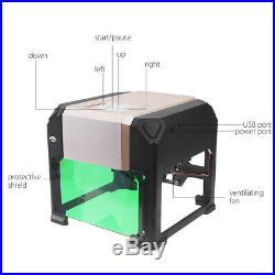 3000mW Desktop DIY Logo Mark CNC Engraver Laser Engraving Machine Cutter