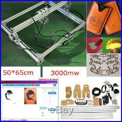 3000mW Laser Engraving Machine DIY Logo Marking Printer Engraver Cutting 65x50cm
