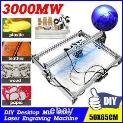 3000mW Mini Desktop Laser Engraving Mark Cutter Wood Machine & Goggle! @ Best