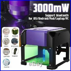 3000mW Mini Laser Engraver DIY Logo 3D Printer USB Desktop Laser Carving Machine