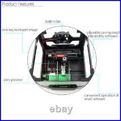 3000mW USB Laser Engraver Desktop DIY Logo Mark Printer Carver Engraving Machine