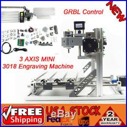 3018 CNC Router Laser MINI Engraver Milling Machine GRBL Control 220V Spindle