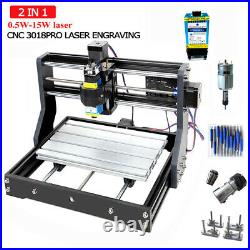 3018Pro CNC laser engraving machine CNC 3 Axis DIY For Sculpture Wood 0.5W-15W