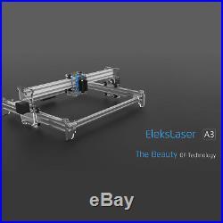 3040cm EleksMaker Laser Engraver Cutter Mini Engraving Machine Printer DIY Kit