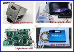 30W Fiber Laser Marking Machine Engraving Metal Steel Air Express FDA CE