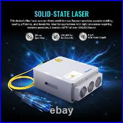 30W Split Fiber Laser Marking 7.9x7.9 Metal Marker Engraver with Rotary Axis